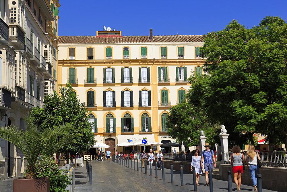 Merced Square, Malaga City, Andalusia, Spain, Europe