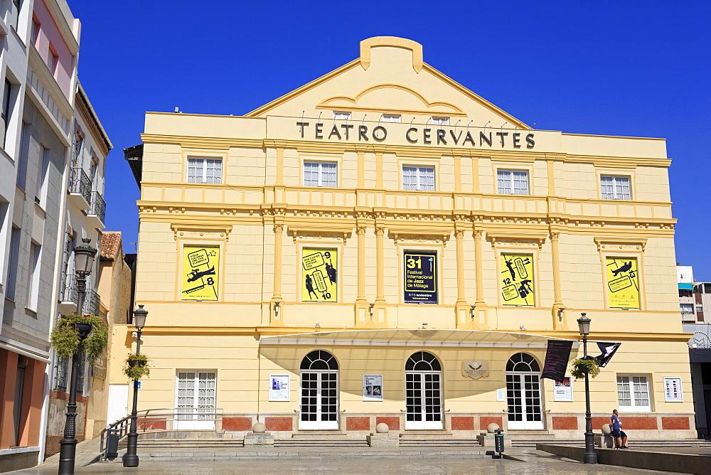 Cervantes Theatre, Malaga City, Andalusia, Spain, Europe