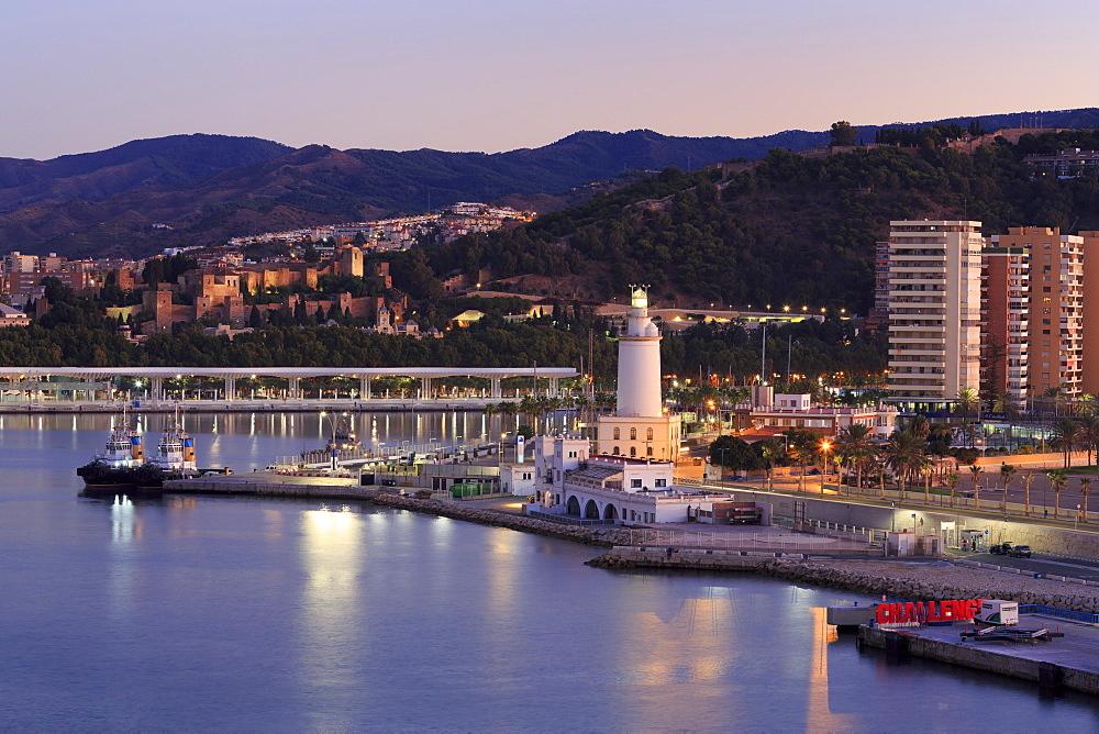 Lighthouse, Malaga City, Andalusia, Spain, Europe