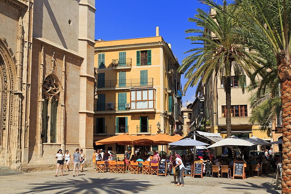 La Lonja Square, Palma De Mallorca, Majorca, Balearic Islands, Spain, Europe