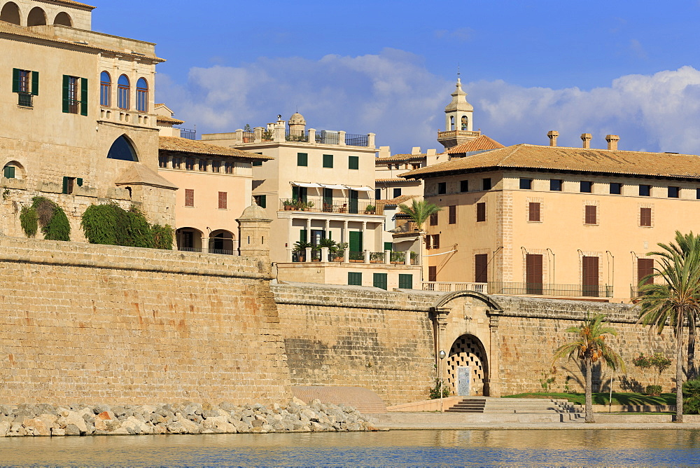 Old City Walls, Parc del Mar, Palma De Mallorca, Majorca, Balearic Islands, Spain, Mediterranean, Europe