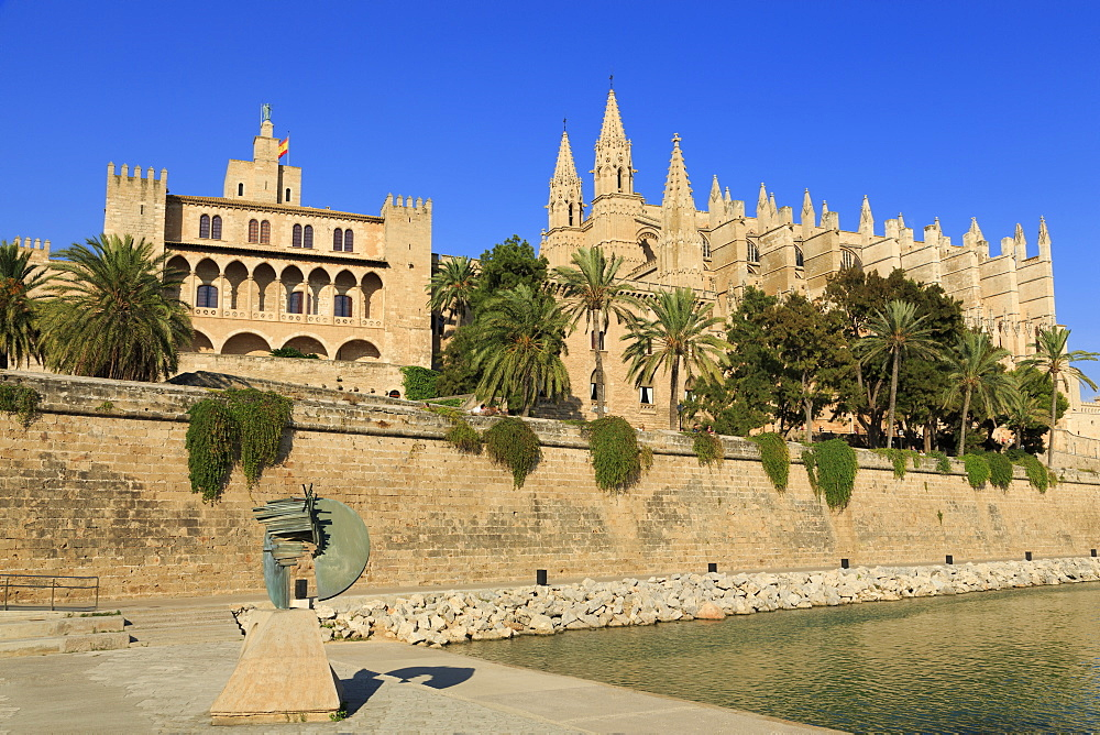 Cathedral, Palma De Mallorca, Majorca, Balearic Islands, Spain, Mediterranean, Europe