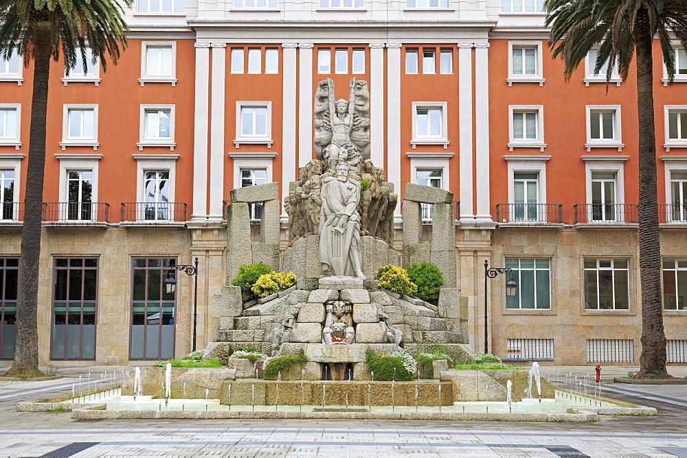 Jardines de Mendez Nunez, La Coruna City, Galicia, Spain, Europe