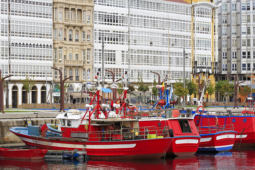 Boats, La Coruna City, Galicia, Spain, Europe