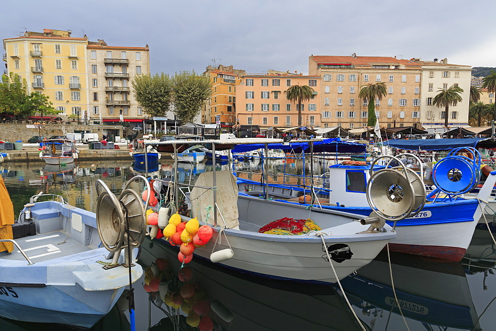 Fishing boats, Ajaccio, Corsica Island, France, Mediterranean, Europe