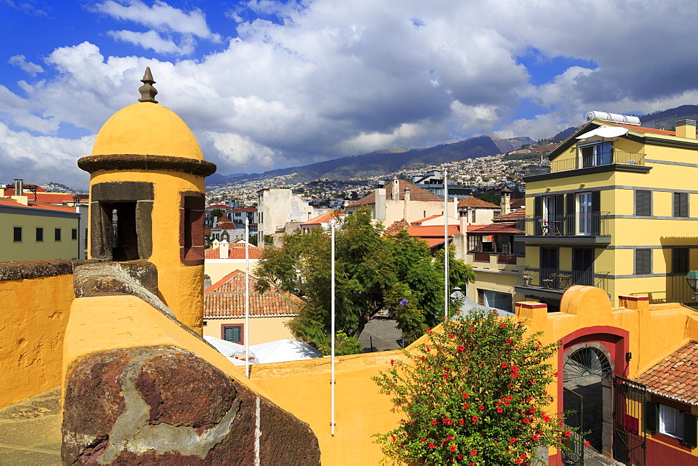 Sao Tiago Fort, Funchal City, Madeira Island, Portugal, Europe