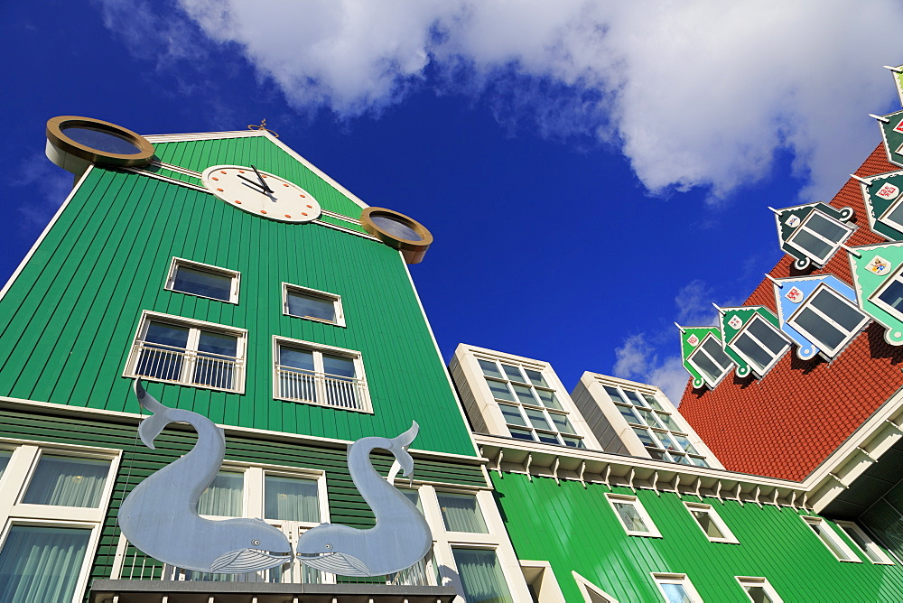 Railway Station and Town Hall, Zaandam, Holland, Netherlands, Europe