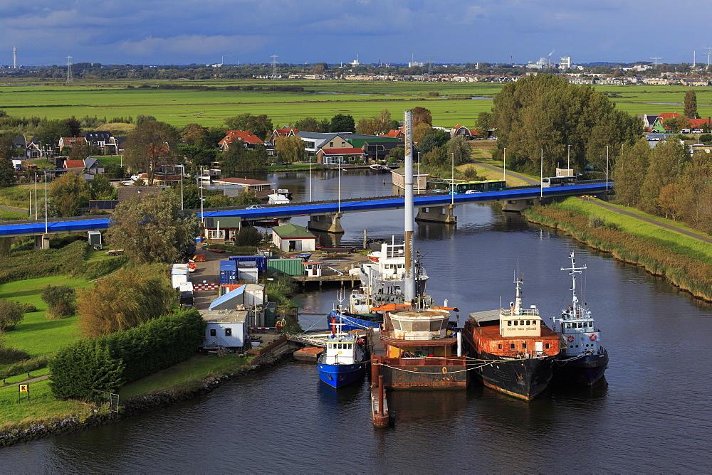 Boats, Zaandam, Holland, Netherlands, Europe