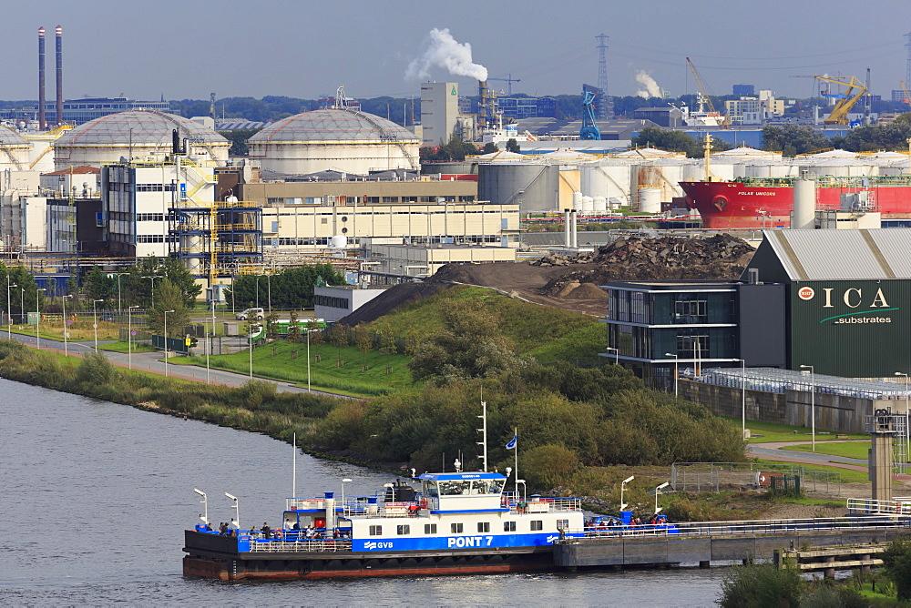 Zaandam Ferry, North Sea Canal, Amsterdam, Netherlands, Europe - 776-5298