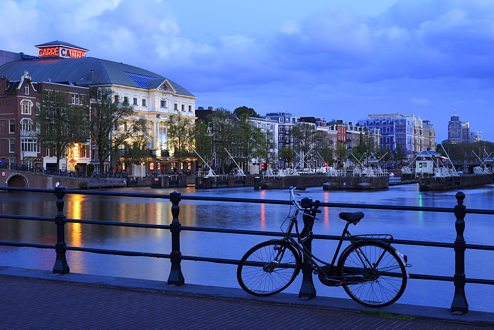 Koninklijk Theatre, Amstel River, Amsterdam, North Holland, Netherlands, Europe