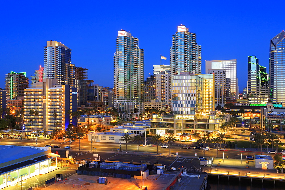 San Diego skyline, California, USA