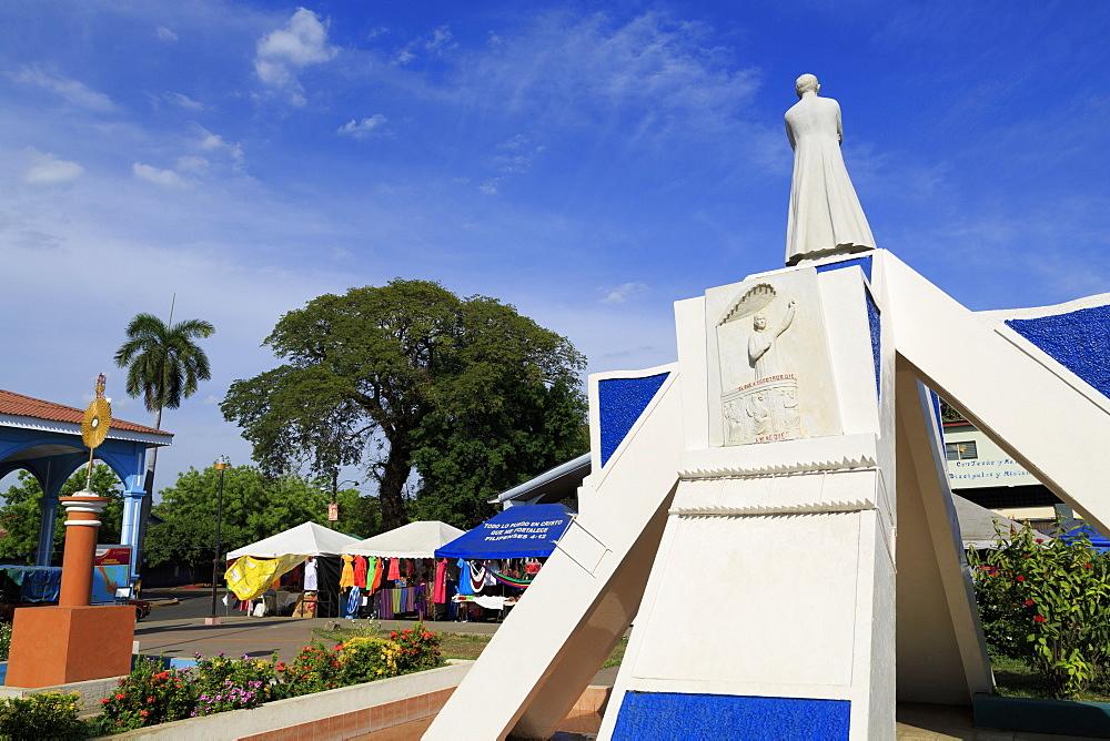 Central Plaza, Corinto City, Chinandega Province, Nicaragua, Central America