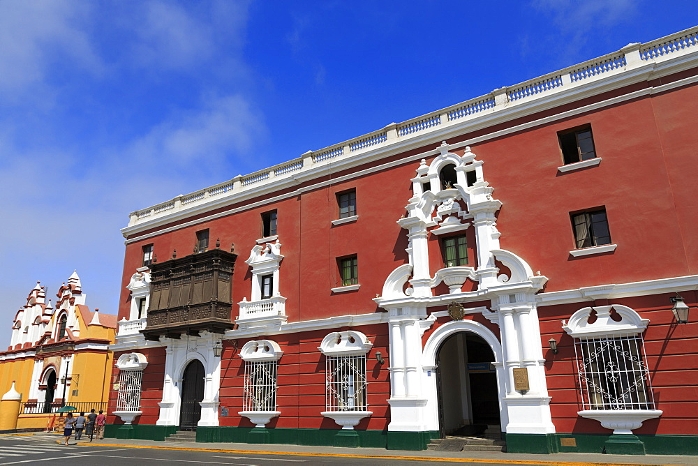 Architecture, Plaza de Armas, Trujillo, Peru, South America