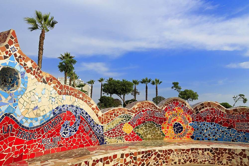 Parque de Amor, Mira Flores District, Lima, Peru, South America