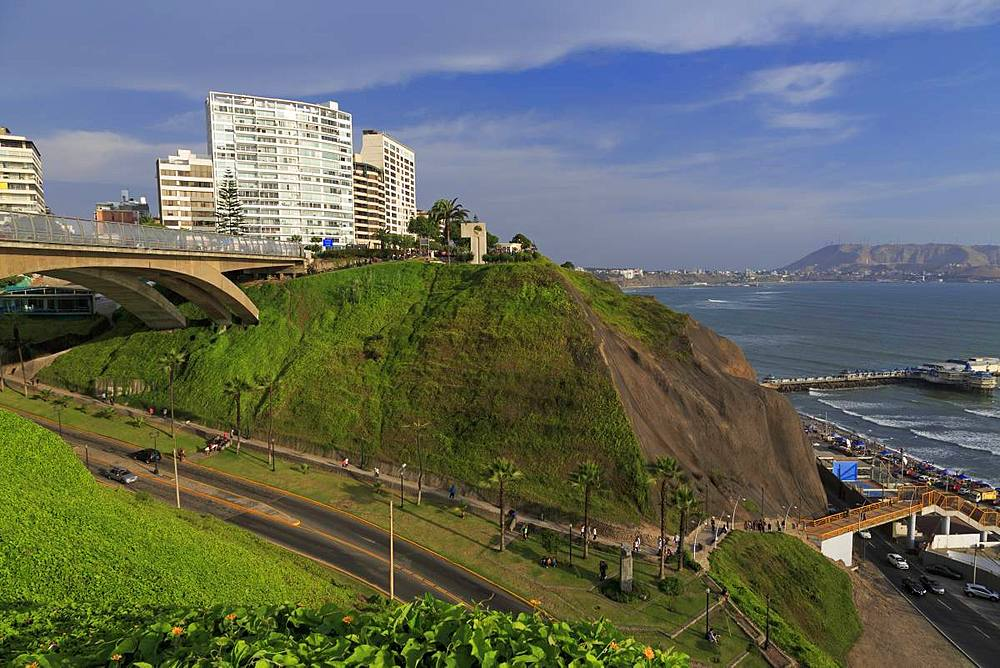 Villena Bridge, Mira Flores District, Lima, Peru, South America