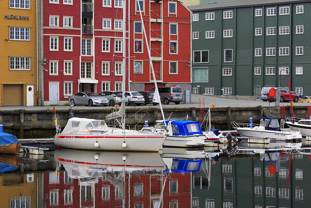 Forsenkaia Bryggene & Nidelva River, Trondheim City, Trondelag County, Norway - 776-5422