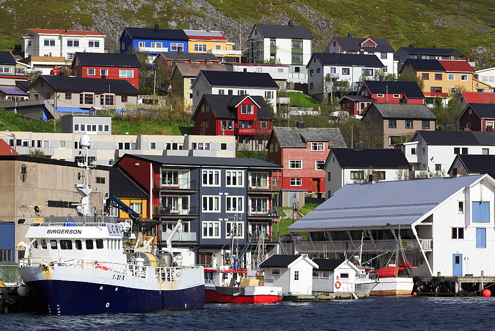 Fishing boats, Honningsvag Town,Mageroya Island, Finnmark County, Norway - 776-5429