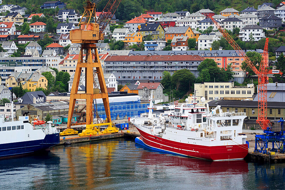 Trawler, Commercial docks, Bergen City, Hordaland County, Norway