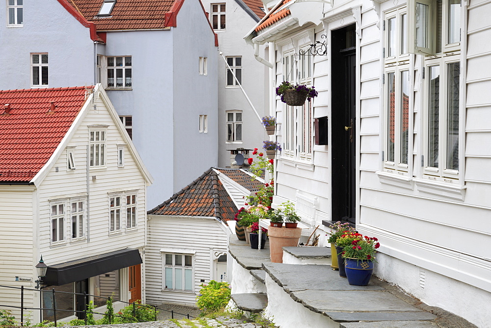 Old wooden houses, Gamla Stan (Old Town), Bergen City, Hordaland County, Norway, Scandinavia, Europe