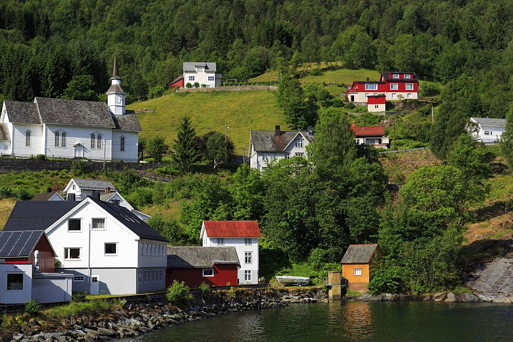 Hellesylt Village, More og Romsdal County, Norway, Scandinavia, Europe