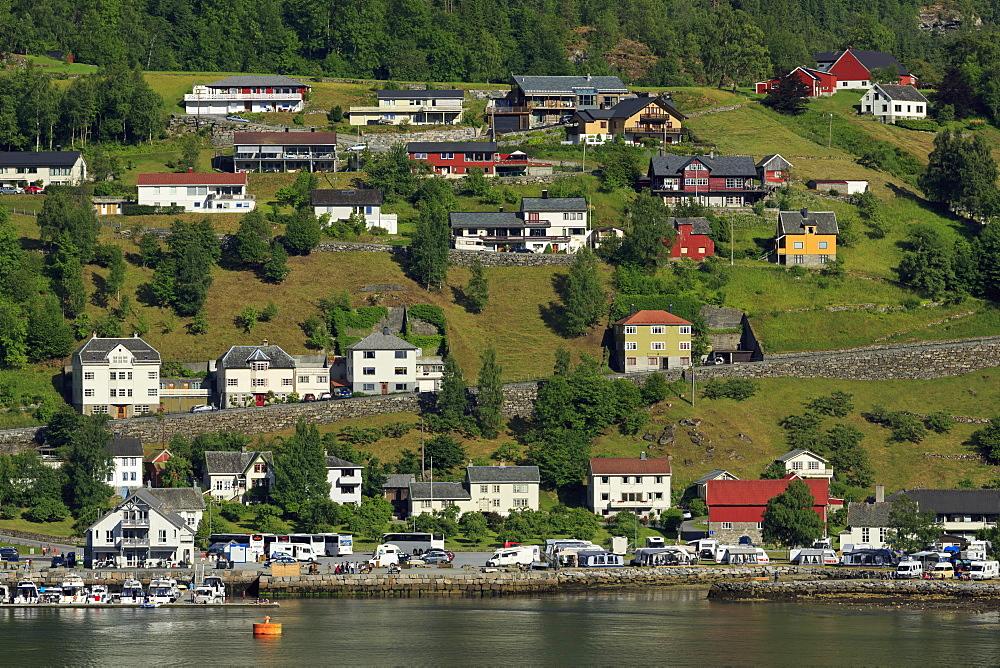 Geiranger Village, More og Romsdal County, Norway, Scandinavia, Europe