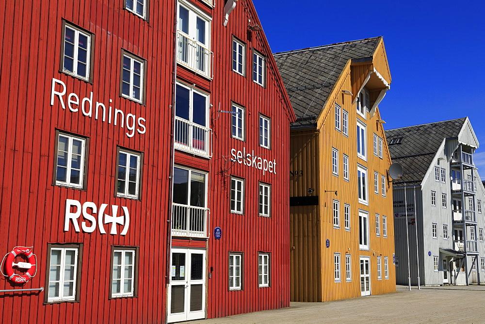 Warehouses, Tromso City, Tromsoya Island, Troms County, Norway, Scandinavia, Europe