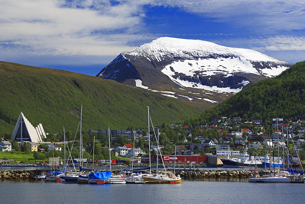 Arctic Cathedral, Tromso City, Tromsoya Island, Troms County, Norway, Scandinavia, Europe