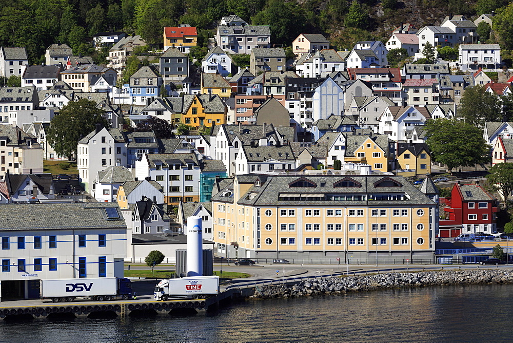 Commercial docks, Alesund City, More og Romsdal County, Norway, Scandinavia, Europe