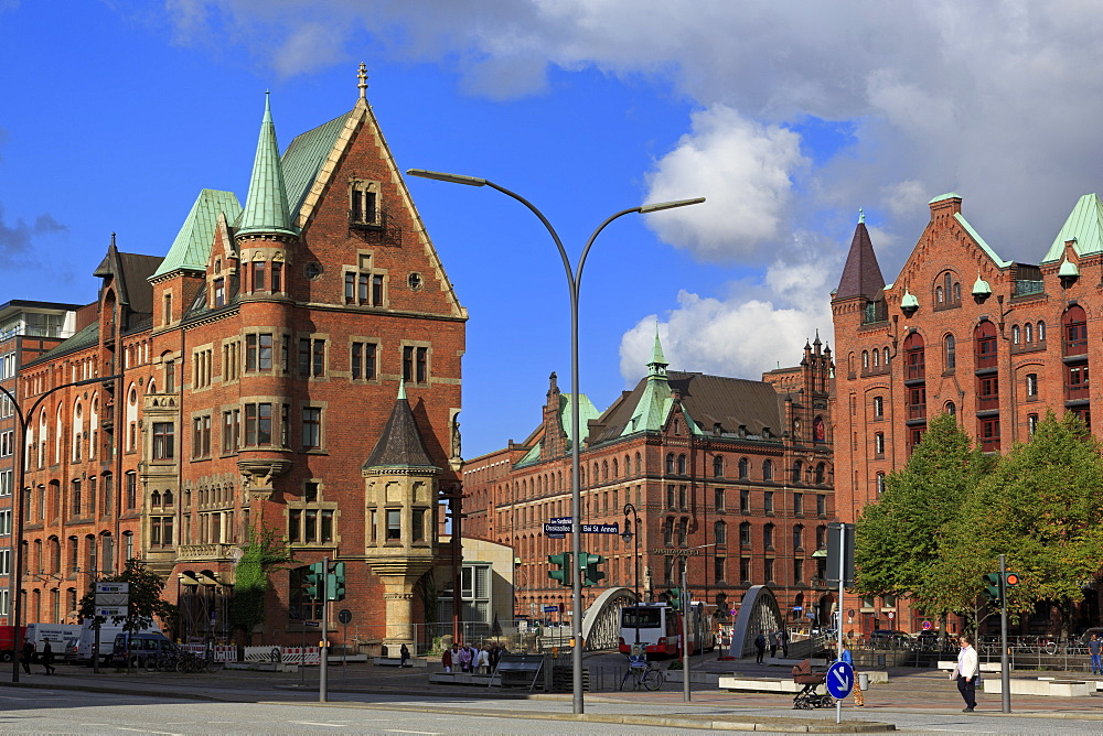 Speicherstadt,HafenCity District, Hamburg, Germany, Europe