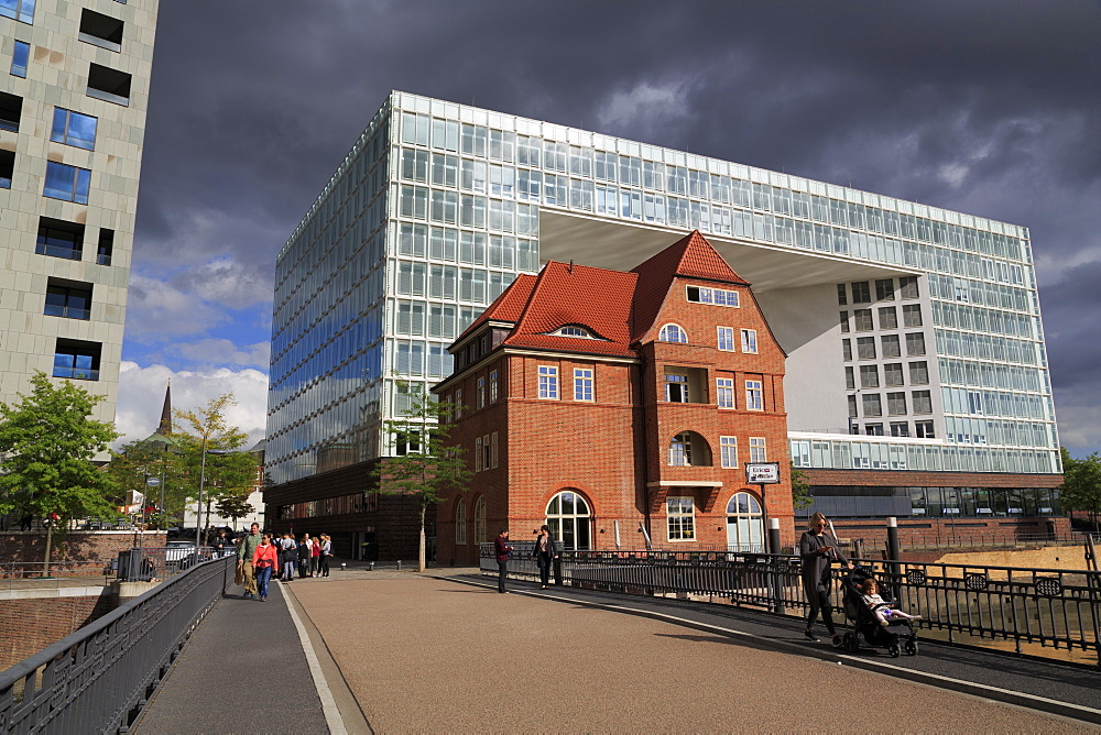 Der Spiegel Building, HafenCity District, Hamburg, Germany, Europe