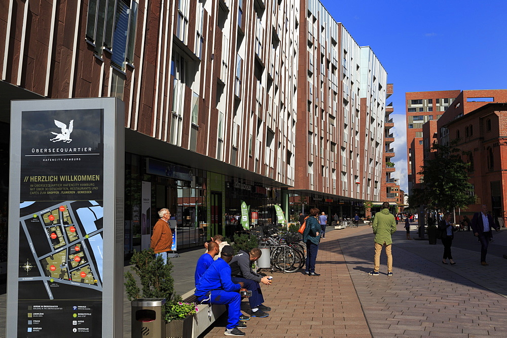 Ubersee Quarter, HafenCity District, Hamburg, Germany, Europe - 776-5503
