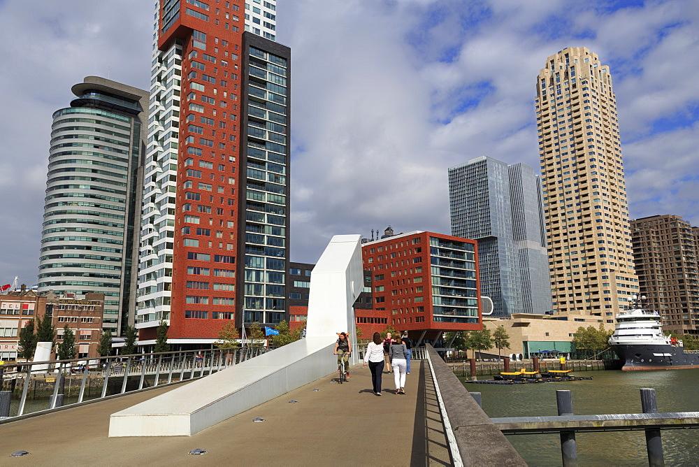 Rijnhaven Bridge, Wilhelminaplein District, Rotterdam, Netherlands, Europe