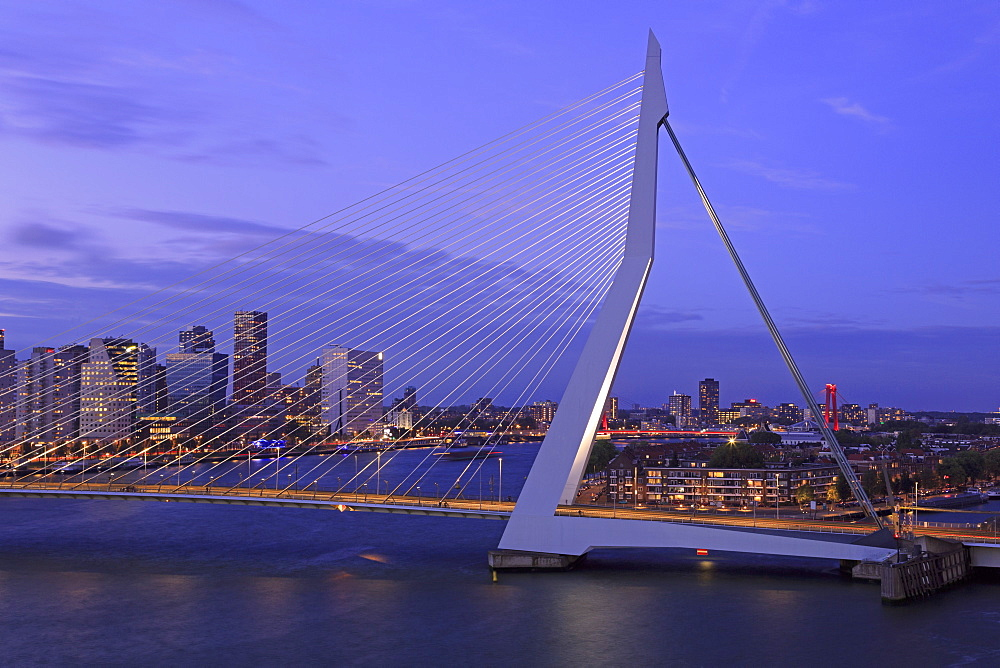 Erasmus Bridge, Rotterdam, Netherlands, Europe