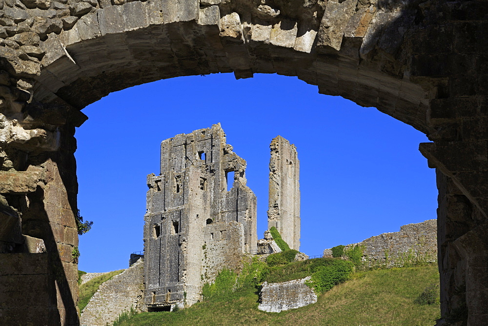 Gatehouse, Corfe Castle, Isle of Purbeck, Dorset, England, United Kingdom