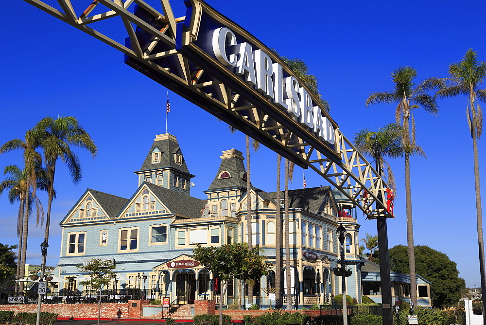 Victorian architecture, Carlsbad Village, San Diego County, California, USA - 776-5573