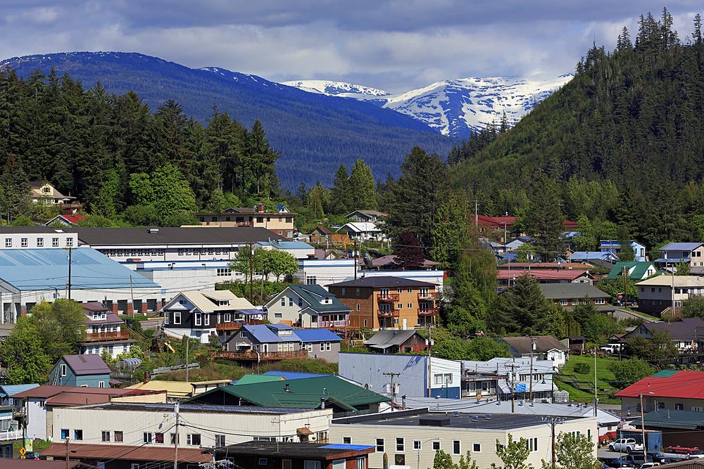 Downtown Wrangel, Alaska, United States of America, North America