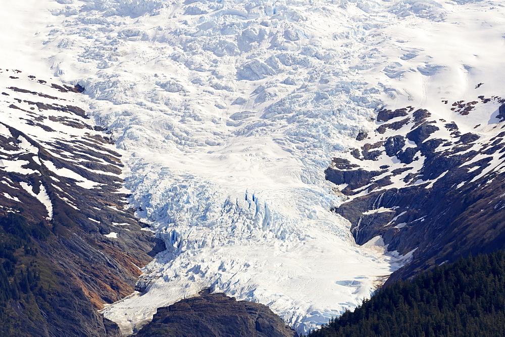 Glacier, Endicott Arm, Holkham Bay, Juneau, Alaska, USA