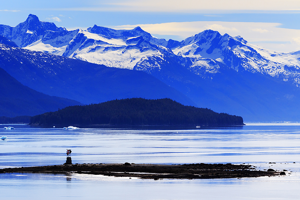 Wood Spit Light, Endicott Arm, Holkham Bay, Juneau, Alaska, United States of America, North America