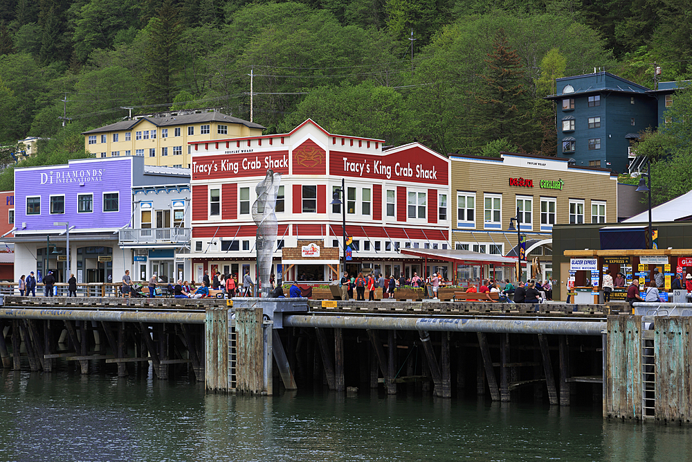 Cruise ship dock, Juneau, Alaska, United States of America, North America