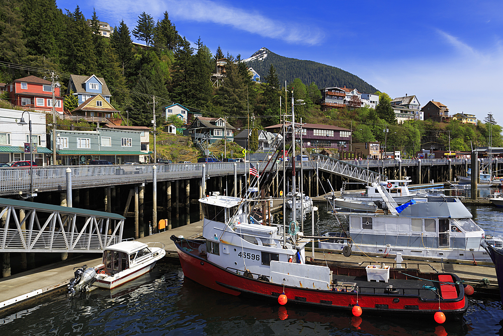 Newtown Marina, Ketchikan, Alaska, United States of America, North America