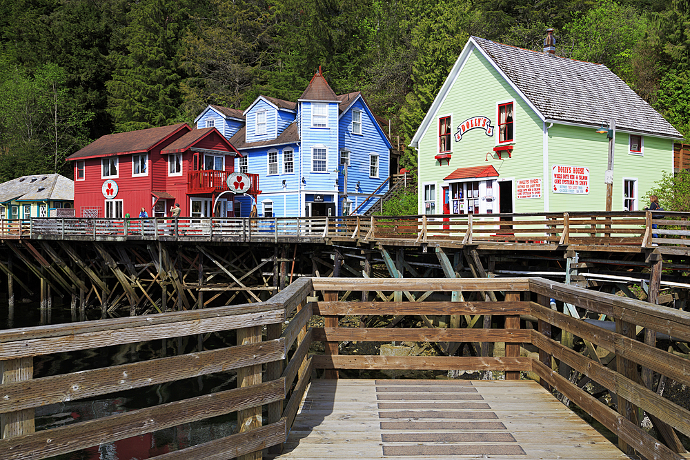 Historic Creek Street, Ketchikan, Alaska, United States of America, North America