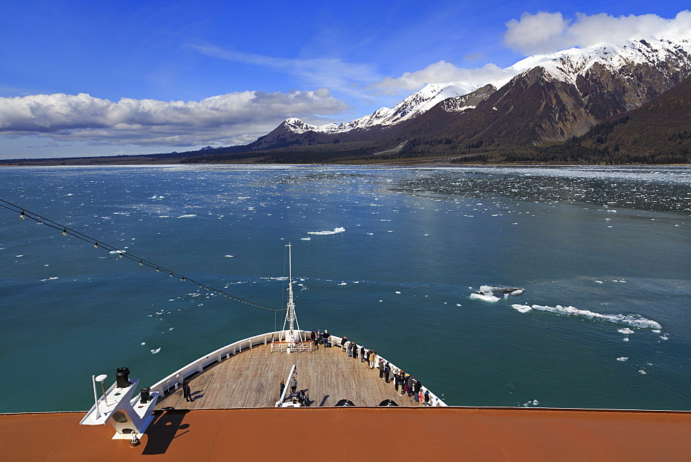 Cruise Ship, Hubbard Glacier, Disenchantment Bay, Alaska, United States of America, North America