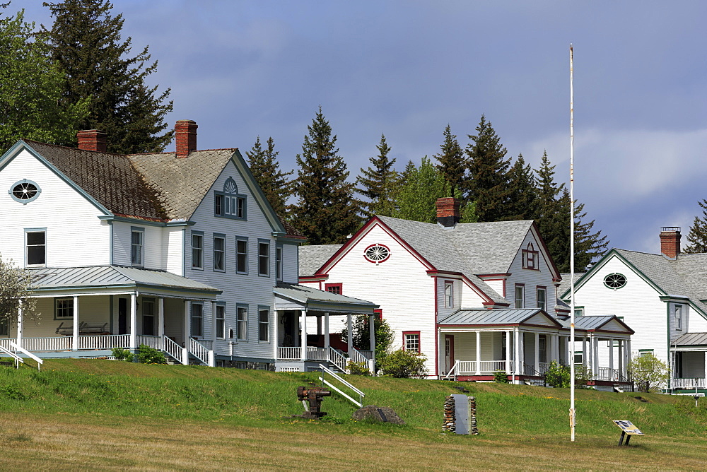 Officers' Row, Fort Seward, Haines, Lynn Canal, Alaska, United States of America, North America