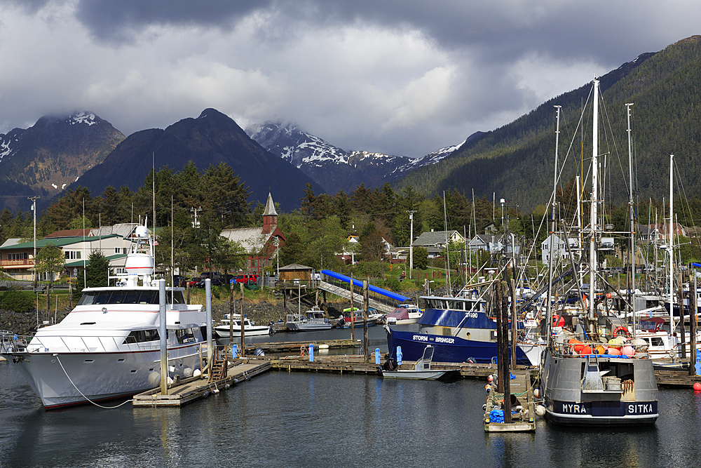 Small Boat Marina, Sitka, Alaska, United States of America, North America