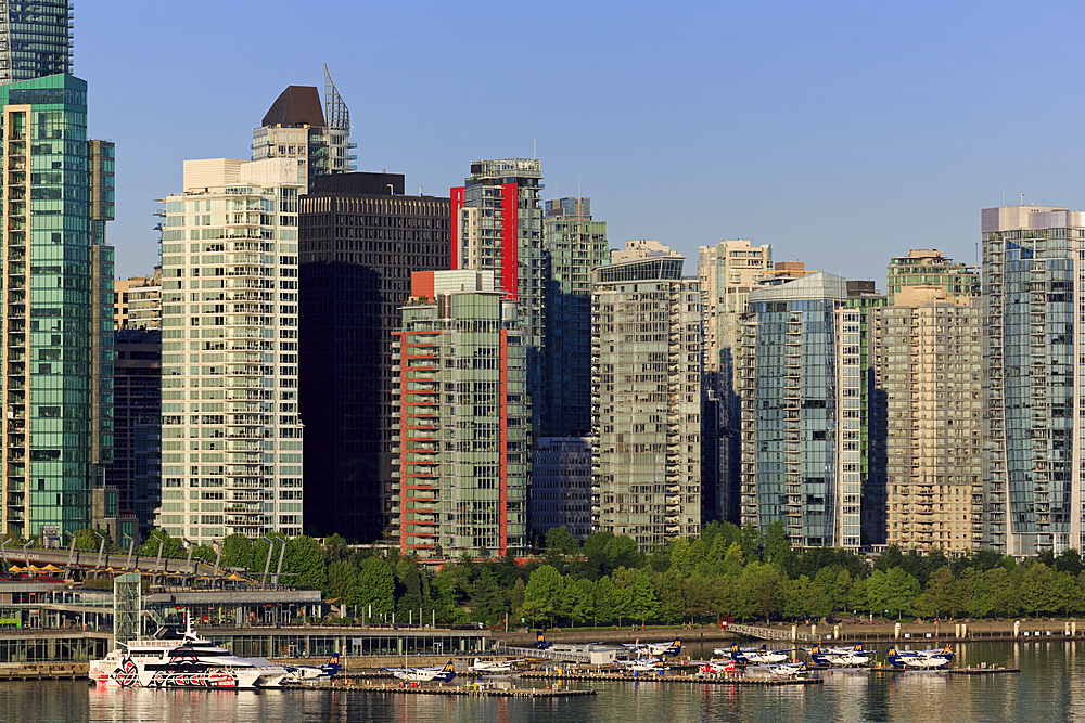 Coal Harbour, Vancouver City, British Columbia, Canada, North America