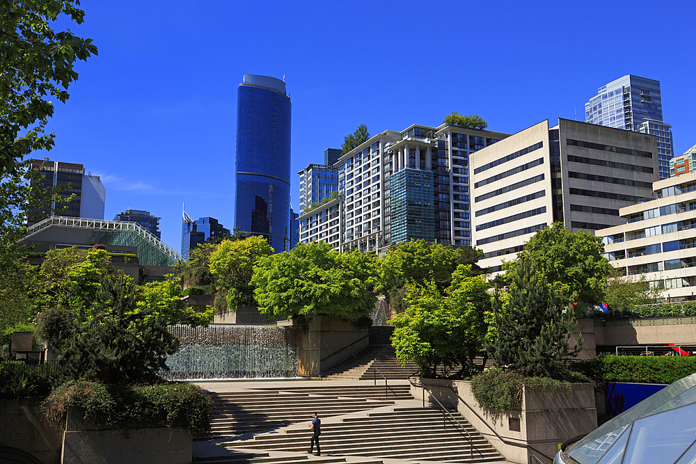 Robson Square, Vancouver City, British Columbia, Canada, North America