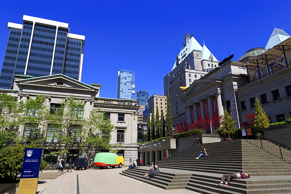 Art Gallery, Robson Square, Vancouver City, British Columbia, Canada, North America