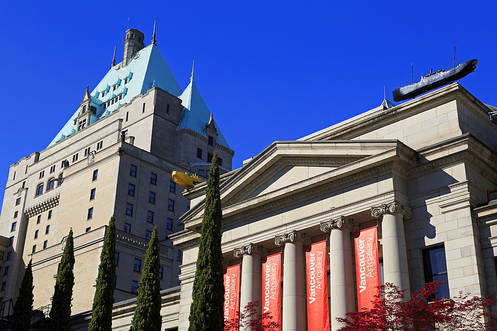 Art Gallery on Robson Square, Vancouver City, British Columbia, Canada, North America - 776-5678