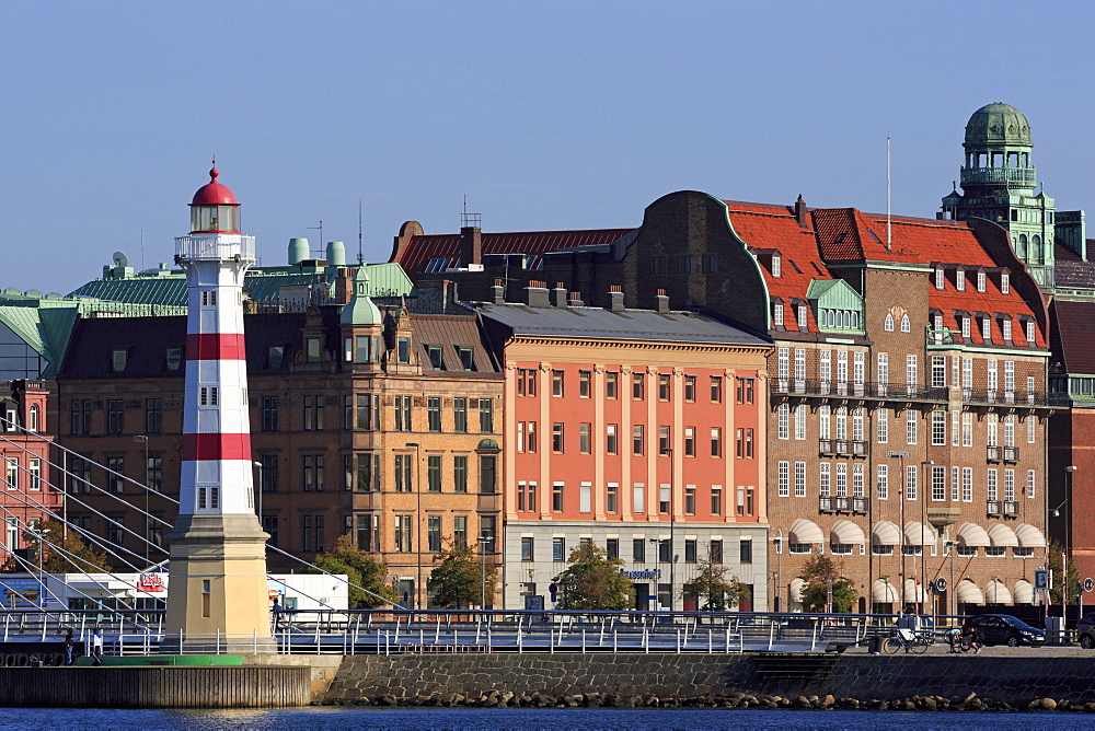 Malmo Harbor Lighthouse, Malmo, Skane County, Sweden, Scandinavia, Europe