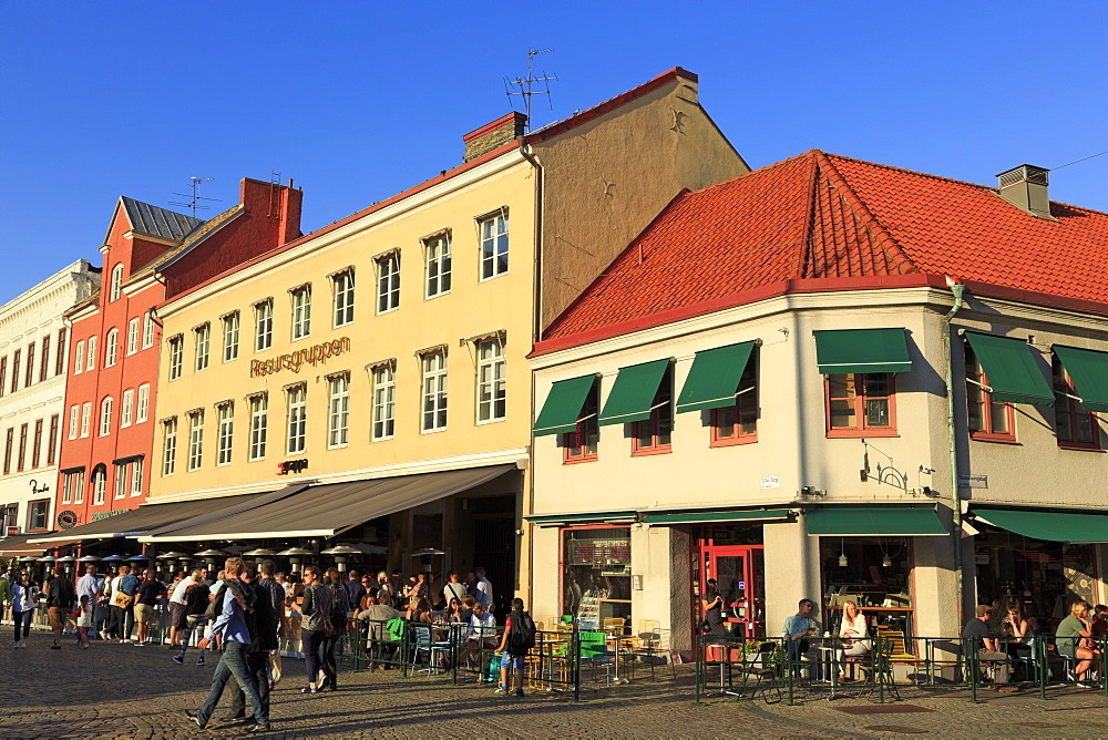 Restaurants in Lilla Square, Old Town, Malmo, Skane County, Sweden, Scandinavia, Europe